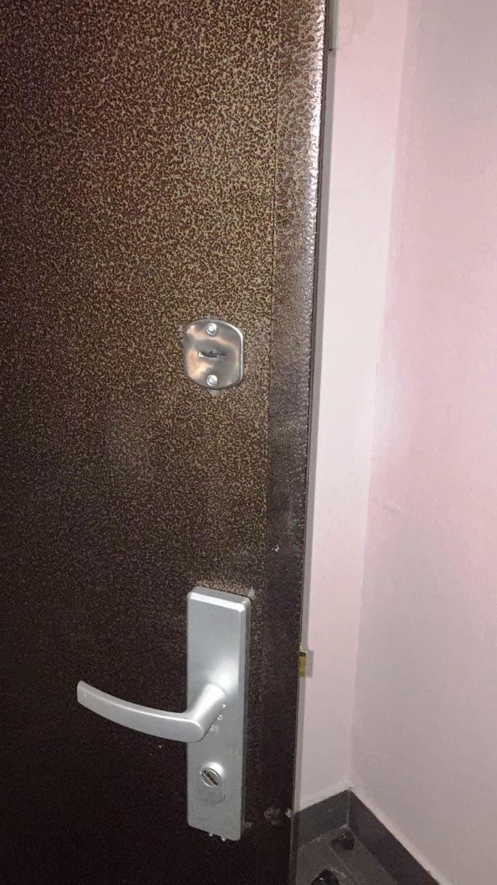 Входная металлическая дверь, замок и личинка фирмы Abus (Абус), бронированные дверные ручки Abus (Абус)